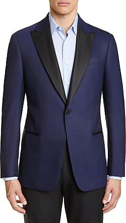 bb8e24c7a768f Emporio Armani Mens Emporio Armani G Line Trim Fit Stretch Check Dinner  Jacket