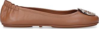 Tory Burch Ballet Flats MINNIE nappa leather Logo Metallic light brown