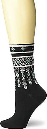 Ozone Womens Bejeweled Cuffs Sock-Black, OSFM