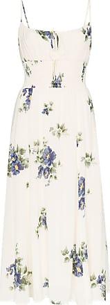 Reformation Vestido midi Macadamia com estampa floral - Neutro