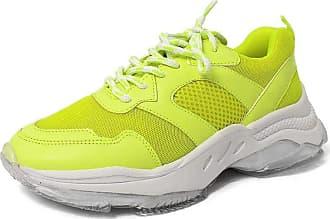 Damannu Shoes Tênis Sofia Amarelo Neon - Cor: Amarelo - Tamanho: 37