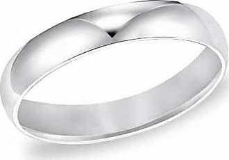 Zales Ladies 4.0mm Comfort Fit Wedding Band in 14K White Gold