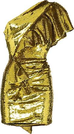 Alexandre Vauthier Vestido ombro único com paetês - Amarelo