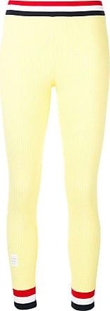 Thom Browne Rwb Trim Seersucker Leggings - Yellow