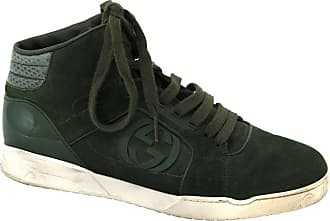 39c25beed17 Gucci Mens Green Hitop Trainer With Interlocking G Detail - Size 41