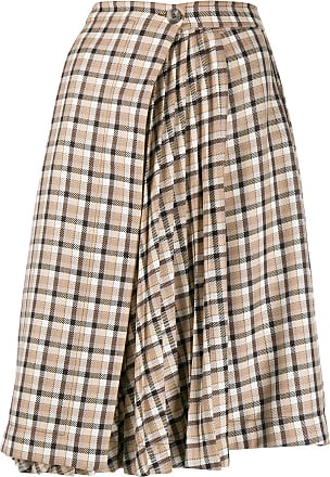 A Touch of Luxury 1960/'s70/'s mid length brown pleated wool skirt UK12 US8 EU38 Best fit a size 8