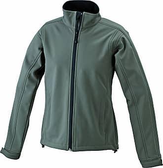 James & Nicholson Womens Softshelljacke Jacket, Green (Olive), (Size: XX-Large)