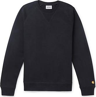 Carhartt Work in Progress Chase Logo-embroidered Fleece-back Cotton-blend Jersey Sweatshirt - Navy
