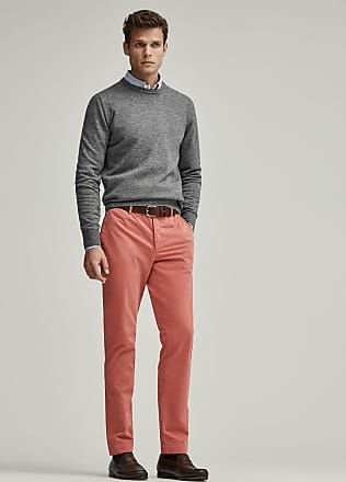 Hackett Mens Kensington Fit Cotton Chino Trousers | Size 36R0 | Strawberry