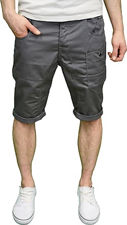Crosshatch Mens Designer Summer Regular Fit Chino Shorts BNWT (40, Charcoal)