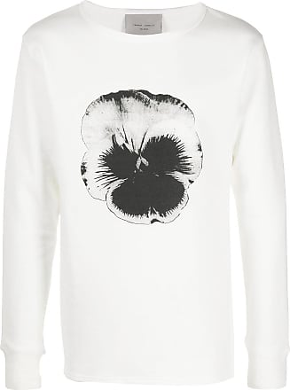 Frankie Morello Suéter decote careca com estampa de flor - Branco