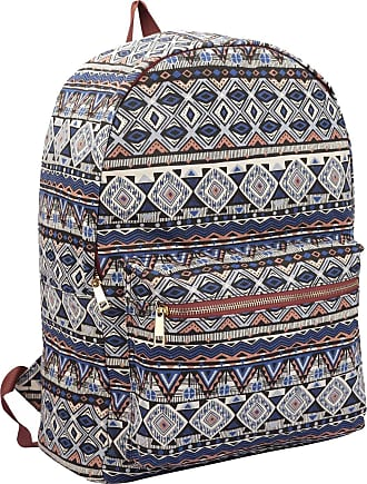 Quenchy London Ladies Backpack, Girls Casual Daypack Bag for School, Work or Hand Luggage Travel 20 Litre Size 39cm x32 x16 QL7162N (Navy Inca)