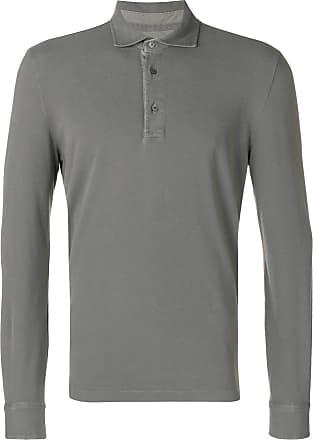 Ballantyne Camisa polo mangas longas - Cinza