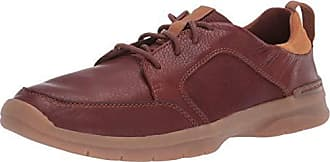 Clarks Mens Orlin Vibe Shoe, Tan Leather, 8.5 M US