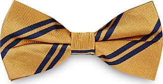 TND Basics Papillon oro in seta con fantasia a doppie righe blu e8232e9a9435