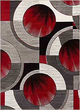 Well Woven 601006 Red Grey Yolo Modern Abstract Geometric 67 x 93 Area Rug