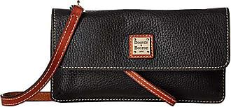 Dooney & Bourke Pebbble Milly Crossbody (Black/Tan Trim) Cross Body Handbags