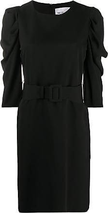 Blumarine Vestido curto com mangas bufantes - Preto
