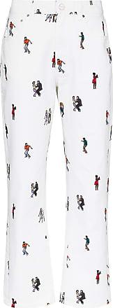 Kirin dancer-print boyfriend-fit jeans - White