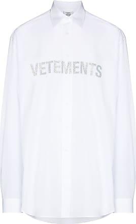VETEMENTS Camisa com logo de brilho - Branco