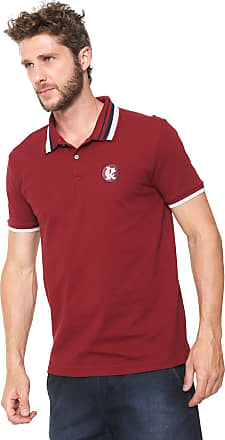 bd20ddc10b5 Calvin Klein Camisa Polo Calvin Klein Reta listras Vinho