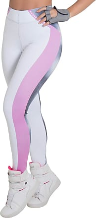 Kaisan Calça Kaisan Sublimada Branco e Rosa