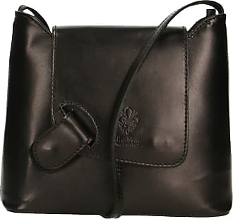 Chicca Borse Aren - Womans Shoulder Bag in Genuine Leather Made in Italy - 24x20x7 Cm