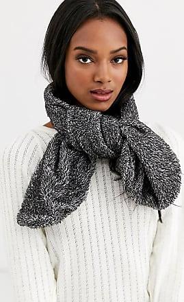 7X SVNX teddy bear scarf in black and white-Multi