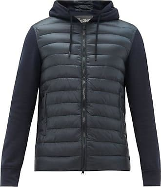 Herno Jersey And Quilted Shell Track Top - Mens - Navy