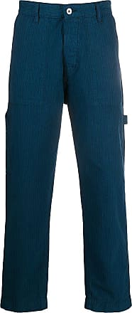 Ymc You Must Create striped wide-leg trousers - Blue