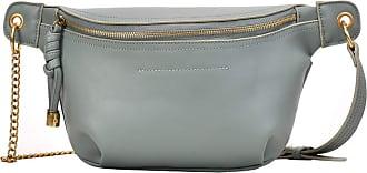 NA Fashion Womens Waist Bags Unisex Casual Multifunction PU Fanny Packs Multi Belt Bag Mens Waist Packs Chain Chest Ba,Black,-Green