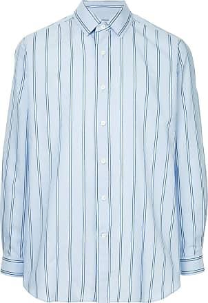 Ports V Camisa listrada com bordado - Azul