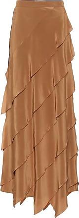 Max Mara High-rise silk-satin skirt