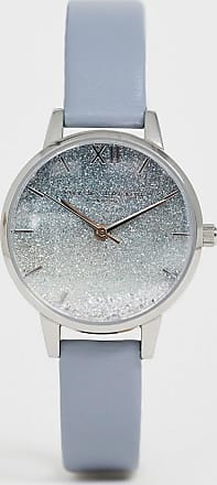 Olivia Burton OB16US27 Under the Sea leather watch with glitter dial-Blue