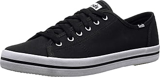 Keds Womens KICKSTART SEASONAL SOLID Sneaker, Black/Black, 4 UK