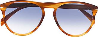 David Beckham Óculos de sol aviador havana - Marrom