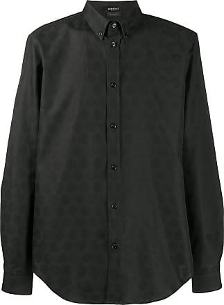 Versace Camisa mangas longas Medusa Head - Preto