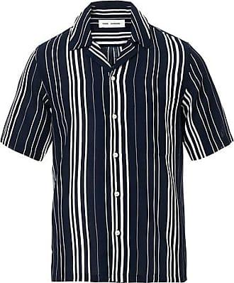 Samsøe & Samsøe Oscar Striped Short Sleeve Shirt Night Sky
