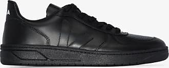 Veja Mens Black V-10 Leather Sneakers