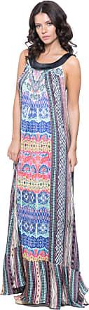 101 Resort Wear Vestido 101 Resort Wear Longo Estampado Multicolorido