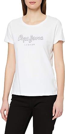 Pepe Jeans London Womens T-Shirt, White (Optic White 802), Large