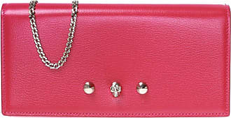 Alexander McQueen Wallet With Chain Womens Pink