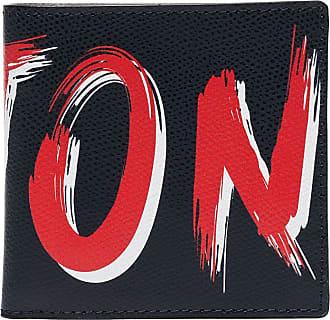 Kiton Portemonnaie mit Logo-Print - Blau