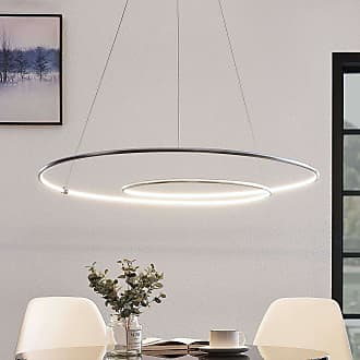 Lindby Lucy lámpara colgante LED, 90 cm, aluminio
