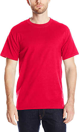 Hanes mensO5180Short Sleeve Beefy-t Short Sleeve T-Shirt - red - XXXL