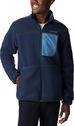 Columbia Mens Rugged Ridge Sherpa Fleece Jacket, Collegiate Navy, Scout Blue, Buffalo, Large