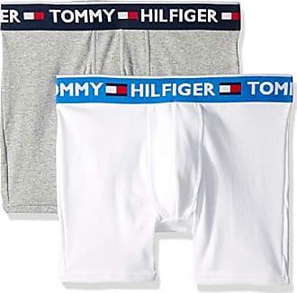 Tommy Hilfiger Boys 2 pack Modern Classics Cotton Boxer Trunks Navy//Grey