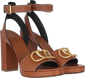 Valentino Sandals - V Logo Platform Sandals Brown - cognac - Sandals for ladies