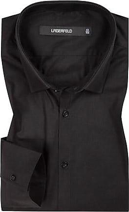 Karl Lagerfeld Herren Hemd, Ultra Slim Fit, Popeline, schwarz