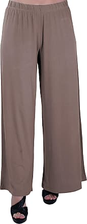 Eyecatch Plus - Kirsten Ladies High Waisted Palazzo Womens Trousers Pants 28/30